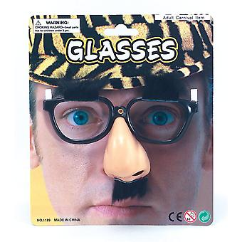 Bristol Novelty Unisex Adults Novelty Glasses with Vinyl Nose