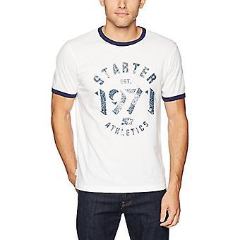Starter Men's Short Sleeve Vintage Est. 1971 Logo Ringer T-Shirt,  Excl...