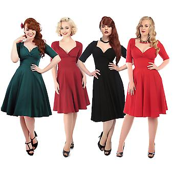 Collectif Vintage Women's Flared Trixie Doll Dress