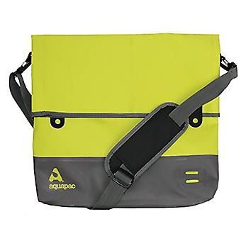 AQUAPAC Waterproof Shoulder Bag Unisex Wasserdichte Umh ngetasche Tote Bag Acid Green/Grau L