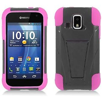 Aimo Kickstand Case for Kyocera Hydro XTRM - Hot Pink Skin/Black Cover