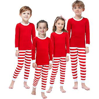Matching Family Pajamas for Boys Girls Christmas Red Striped Jammies Mum and ...