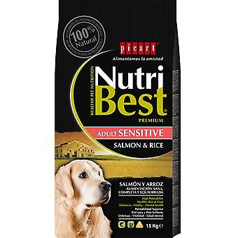 Picart Nutribest Adult sensitive salmon and rice (Dogs , Dog Food , Dry Food)