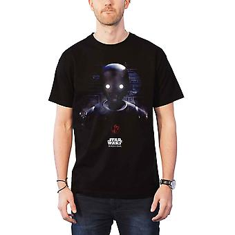 מלחמת הכוכבים T חולצת נוכלים אחד K-2SO ראש הממשלה 01 הרשמי החדש Mens שחור