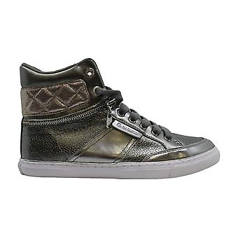 G by Guess Womens ombae Leather Hight Top Lace Up Fashion Sneakers
