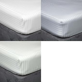 Belledorm 540 Thread Count Satin Stripe Extra Deep Fitted Sheet