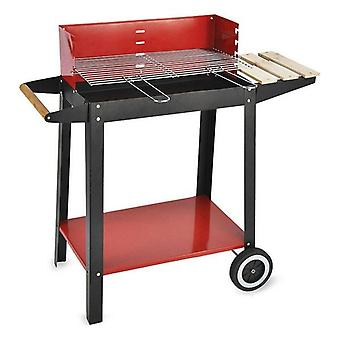 Algon Black Red Charcoal Barbecue Räder (52 x 27 cm)