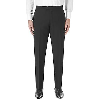 Skopes Mens Latimer Big Tall Classic Fit Flat Front Formal Suit Trousers - Black