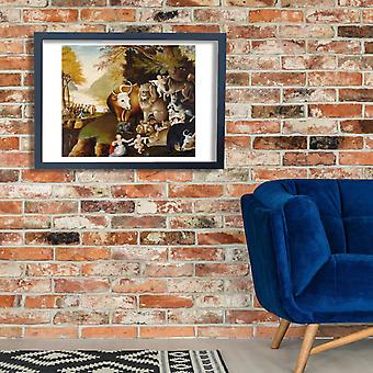 Edward Hicks - The Peaceable Kingdom Poster Print Giclee
