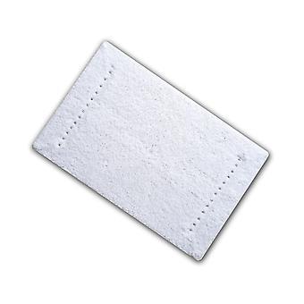 Diamante White Cotton Single Bath Mat 50 x 80cm