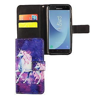 Handyhülle Tasche für Handy Samsung Galaxy J3 2017 Einhorn Magic