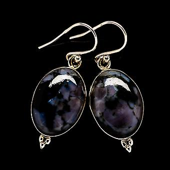 "Gabbro Earrings 1 1/2"" (925 Sterling Silver)  - Handmade Boho Vintage Jewelry EARR398035"