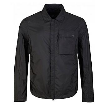 Paul And Shark Nylon Zip Through Chest Pocket Overshirt