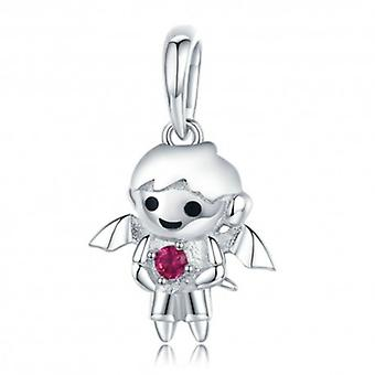 Sterling Silver Pendant Charm Angel Girl - 5703