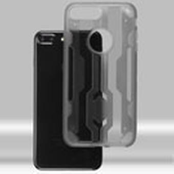 ASMYNA Chali Hybrid Case for iPhone 8/7 Plus - Transparent Smoke/Transparent Smoke
