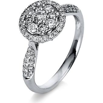 Diamond Ring Ring - 18K 750/- White Gold - 0.64 ct. - 1R033W853 - Ring width: 53