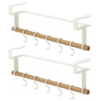 Multifunctional hanging storage rack with hook 2pcs white