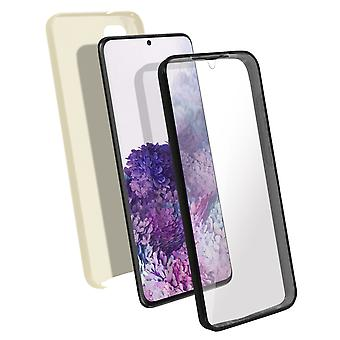 Silicone case + back cover in polycarbonate for Samsung Galaxy S20 Plus - Gold