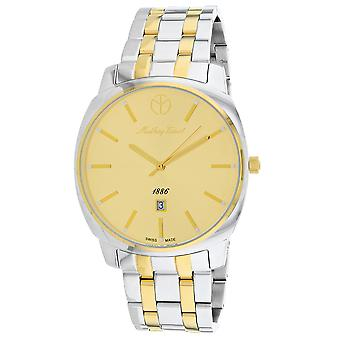 Mathey Tissot Men's Smart Gold Dial Watch - H6940MBDI