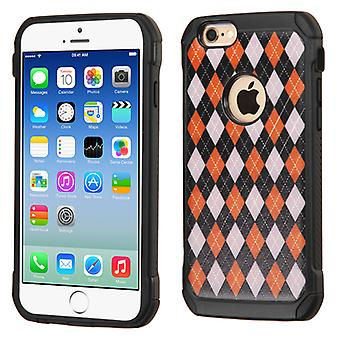 Asmyna Astronoot Phone Case for iPhone 6/6S - Classic Argyle Backing/Black