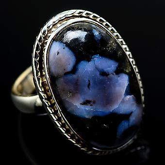 Indigo Gabbro Ring Size 6 (925 Sterling Silver)  - Handmade Boho Vintage Jewelry RING7607
