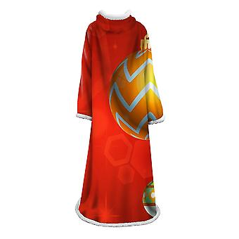 Christmas series printed blanket with sleeves Polyester multifunctional blanket Warm portable