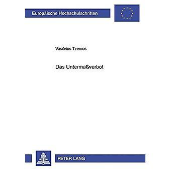 Das Untermassverbot av Vasileios Tzemos - 9783631526057 Bok