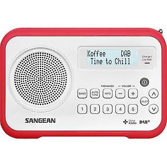 Sangean DPR-67 Portable radio DAB+, FM Battery charger Red, White