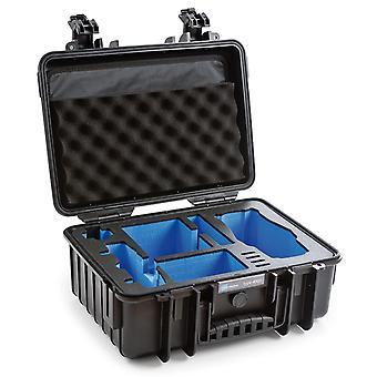 B & W Copter Case Typ 4000 för DJI Mavic 2 (Pro / Zoom) + DJI Smart Controller, Svart med skum insats
