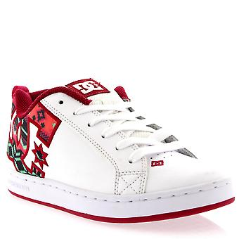 Womens DC Shoes Court Graffik White Leather Low Top Skate Shoes Trainers