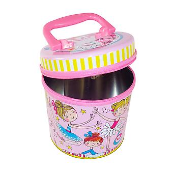 Childrens ballerina hair accessories zipped storage tin