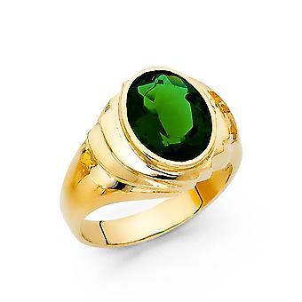 14k sárga arany CZ cubic cirkónia szimulált Diamond Férfi Gyűrű Mérete 10 Ékszer Ajándékok férfiaknak