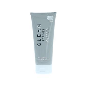 Schoon voor mannen klassieke haar & Body Wash 177ml