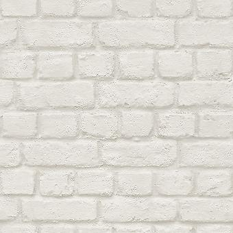 Rasch Brick Stone Wall Realistic Faux Effect Textured Photographic Wallpaper
