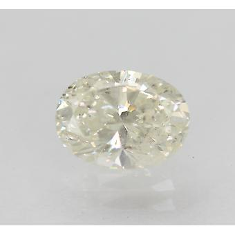Certified 0.74 Carat I Color SI1 Oval Enhanced Natural Diamond 6.77x5mm 2VG