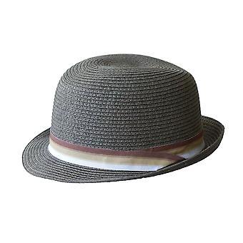 Jacaru 1832 trilby hat with striped ribbon