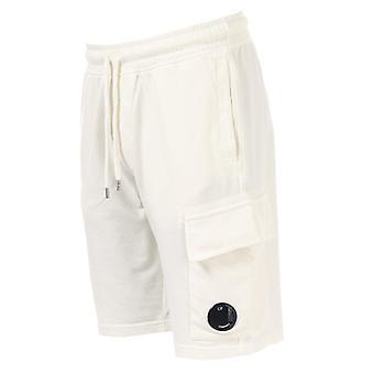 Men's C.P. Company Light Fleece Short in White