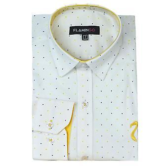 Pojat valkoinen pilkku Pitkähihaiset paidat
