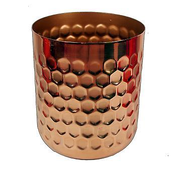 Honeycomb Metal Planter - Copper - 18cm x 15.5cm
