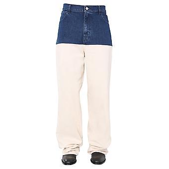 Raf Simons 2013351013304313 Hommes-apos;s Jeans beige/bleu en coton