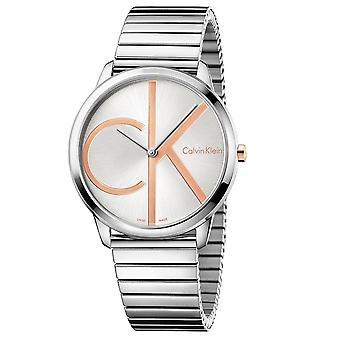 Calvin Klein K3M21BZ6 Minimal Silver Dial Men's Watch