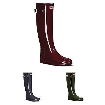 Womens Hunter oorspronkelijke verfijnde Gloss Snow Winter Rubber waterdichte laarzen UK 3-9