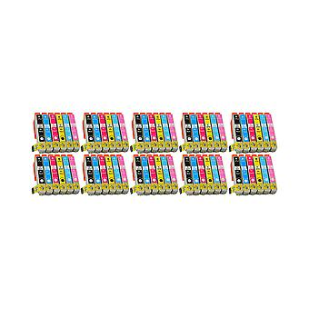 RudyTwos 10x Replacement for Epson Elephant T2438 Set Ink Unit Black Cyan Magenta Yellow Light Cyan & Light Magenta Compatible with Expression Photo XP-55, XP-750, XP-760, XP-850, XP-860, XP-950