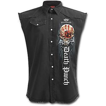 Five finger death punch - game over - men's stone washed workers shirt