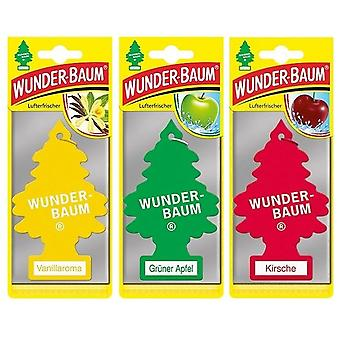 Geurende Wunder-Baum (Vanille + Apple + Cherry) 3-pack