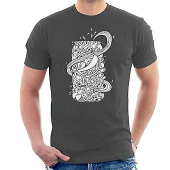 Pepsi White Doodle voi Miesten T-paita