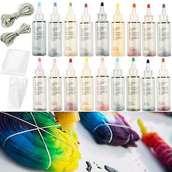 Non Toxic Fabric Tie Dye Kit - Permanente Paint Party Craft colorato con guanti un passo facendo arte