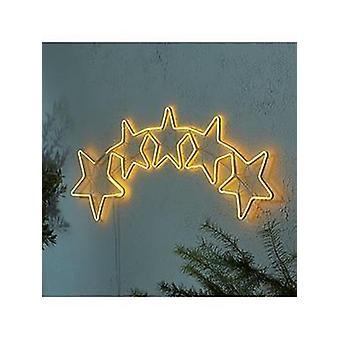 Neon Stars Indoor Outdoor Rope Light Warm White NW94C