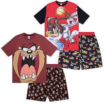 Looney Tunes Space Jam Taz Official Gift Boys Kids Loungewear Short Pyjamas