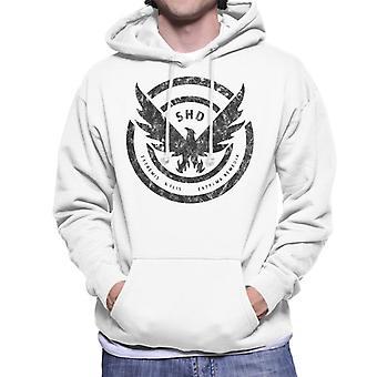 Tom Clancy Distressed Black Logo Men's Hooded Sweatshirt